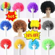 80s CURLY AFRO WIG MULTI COLOUR PARTY CLOWN FUNKY DISCO KIDS CHILDS