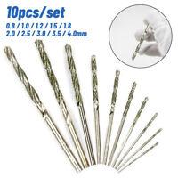 10pcs//kit 0.8-4.0mm Diamond Tipped Twist Drill Bits Set For Glass Tile Stone