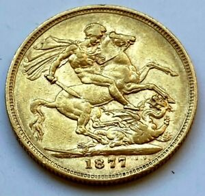 1877  syd  mint  full  sovereign #31333