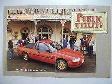 HOLDEN VG COMMODORE UTE COMPLETE 5 PAGE MAGAZINE ROAD TEST