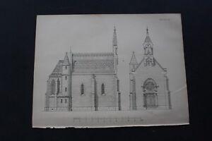 1888 Stich 76 / Gruftkapelle von Gemmingen Hornberg Neckarzimmern