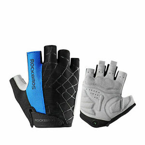 ROCKBROS Cycling Half Finger Gloves Shockproof Breathable Thickened Palm Gloves