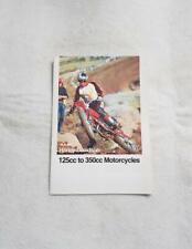 AMF HARLEY DAVIDSON Motorcycle Original Sales Brochure c1990 125cc to 350cc