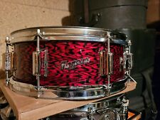 RARE VINTAGE ROGERS 5X14 POWERTONE SNARE DRUM RED ONYX DAYTON/CLEVELAND USA