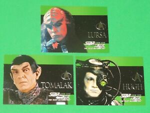 1999 Star Trek Next Generation Season 7 CHARACTER INSERT 3 Card Set! S40-S42!