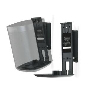 Flexson Swivel Tilt Wall Mount Bracket Sonos ONE/SL/PLAY1 Pair Black FLXS1WM2021