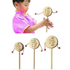 Baby Kids Child Wood Rattle Drum Instrument Child Musical Toy Chinese Styles UL