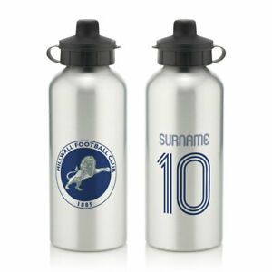 PERSONALISED Millwall FC Gifts - Retro Shirt Water Bottle - Official
