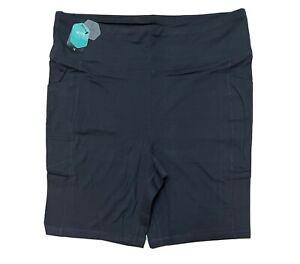 LuLaRoe Rise Driven - Biker Shorts - Solid Charcoal Gray - Size 1X - #4307