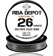RBA Depot Flattened Kanthal 26 Gauge AWG A1 Wire 100 ft Roll Flat Ribbon