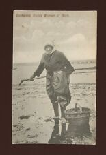 Devon COCKWOOD Cockle Woman at work Used 1906 PPC
