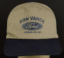 Dan Vance Versailles Missouri Ford Dealer Baseball Cap Hat Adjustable Snapback
