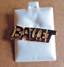 """NEW Lot of 3 Goldtone Ballet """"push"""" Pins Great to decorate Dancebag 1.25"""" across"""