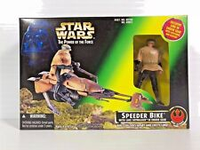 STAR WARS POWER OF THE FORCE SPEEDER MOTO con / Skywalker Luke 1997 HASBRO