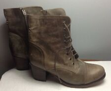 STEVE MADDEN GRAANIE LACE UP BOOTS IN STONE LEATHER SIZE 10 NIB