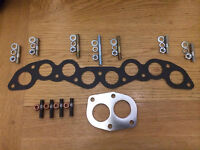 New Fiat X19 X1/9 INLET EXHAUST MANIFOLD ULTIMATE OVERHAUL NUTS STUDS & GASKETS