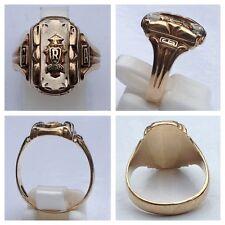 Class Ring 10K 416er Gold Herff Jones High School G R A College Ring Goldring