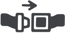QuicKutz Lifestyle Crafts 2x2 Duo Die SEAT BELT Car,Travel,Buckle Up  KS-0987