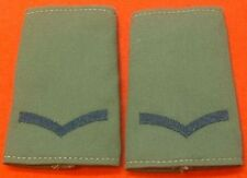 Pair Of LCPL Olive Combat Slides Lance Corporal Green Rank Slides L/CPL Badge