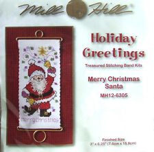"Mill Hill point de croix perles broderie band ""Merry Christmas Santa"" 12-6305"