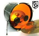 """24"""" Chrome or Sparkle Bass Drum Head with Port Hole Ring - NEW"""