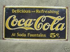 Coca-Cola Coke 1880's vintage look advertising Tin Sign