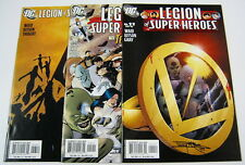 Legion of Super-Heroes #11,#12,#13 All Signed:Barry Kitson LoSH DC COMICS 2005