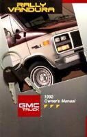 Bishko OEM Maintenance Owner's Manual Bound for Gmc Vandura 1992