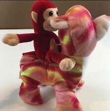 Set of 2 Plush Stuffed Animals Bear Monkey Toy Toddler Plush Multi Color