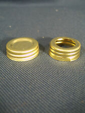 Aladdin style Oil Lamp Replacement Brass Screw on Oil Fill Cap and Collar