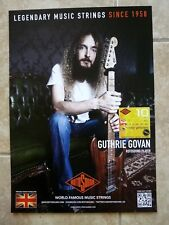 Rotosound Bass Strings Promo Poster 11.5x 16.5 Guthrie Govan  Aristocrats, Asia