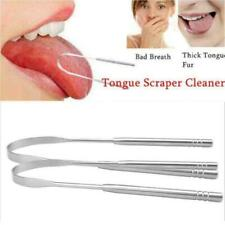 Stainless Steel Tongue Tounges Cleaners Scraper Dental Care Mouth Hygiene Q0G3