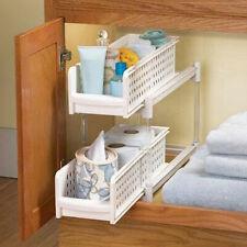 Kitchen Bathroom Under Cabinet Storage Basket - Cupboard/Drawer Organiser Basket