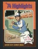 1975 Topps #1 Hank Aaron NM/NM+ Braves HL 78509