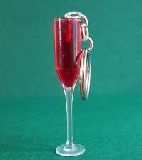 Mini Glass Of Red Wine  Keyring/Bag Charm