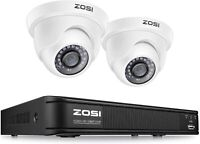 ZOSI H.265+ HD 8CH 1080P DVR Outdoor Day Night CCTV Security 2MP Camera System