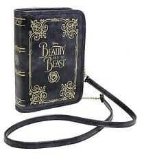 Disney Beauty & The Beast Book Faux Leather Crossbody Clutch Purse Bag NWT!