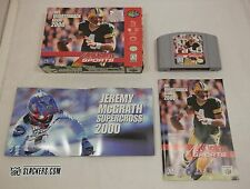 NFL Quarterback Club 2000 Nintendo 64 1999 COMPLETE IN BOX! Packers POSTER Favre