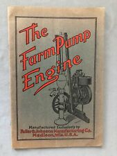 Fuller Amp Johnson The Farm Pump Engine Catalog Vg 1910 Original