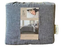 ED Ellen DeGeneres Dream Duvet Cover King Lyocell Linen Bedding