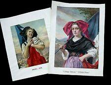 * 2 Affiches libération de l'Alsace - imprimerie Lapina PARIS - 1918