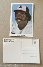 Eddie Murray Team Issued Baltimore Orioles Vintage Postcard Photo