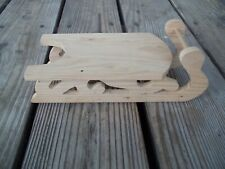 Wood Sled 9-1/2 inches Unfinished Unpainted Christmas Ready To Decorate
