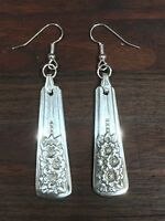 Antique Vintage Spoon/ Fork Silver Belle Earrings Silverware Jewelry