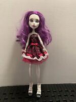 """Monster High Spectra Vondergeist 11"""" Doll 13 Wishes  Puple Hair RARE Mattel"""