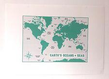 Kateandtheink áreas de envío del Reino Unido estampado mediante serigrafía-tierra los océanos y mares Cartel