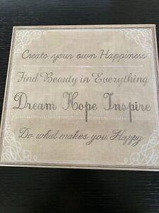Punch Studio KEEPSAKE Storage Box New! Dream Hope Inspire - Live Laugh Love