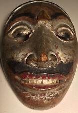 Ethnographic, Danced, Asia-Indonesian Wooden Mask Lombok -Sunda Islands w/Patina