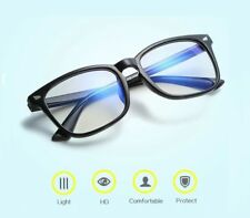 Blue Light Filter Block UV Transparent Lens Computer Gaming Glasses Anti Glare