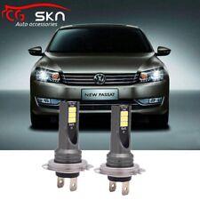FOR VW Passat 3C B6 2005-2011 High Beam 2x H7 Led Headlight 80W Bulbs 6000K